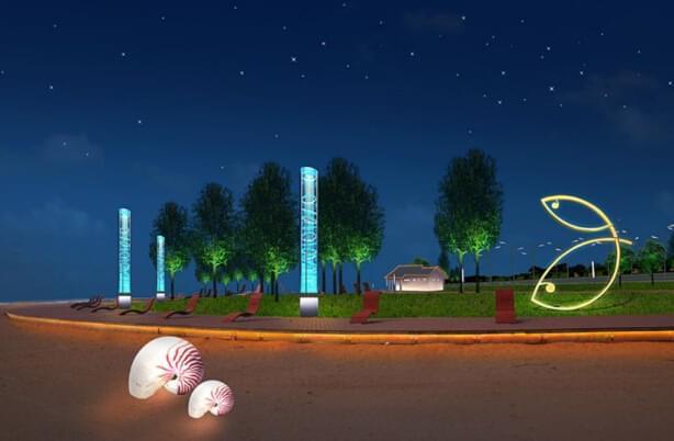 是以景观为主体,利用灯光技术来表现空间艺术,这就需要照明设计者们用图片