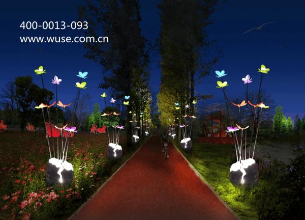 在白天,园灯是有装饰效果的建筑小品,在地形、道路、绿化的配合下,可以组成一幅非常优美动人的园景。夜晚,园灯的作用更是多方面的,沿园路布置,按照所在园林的特点,交通的要求,选择造型富于特色、照明效果好的柱子灯(庭园灯、道、路灯)或草坪灯。那么园灯设计需要注意哪些技巧呢?  1、园灯的设计领域 喷水池、雕像、入口、广场、花坛、亭台楼阁等局部、重点的照明,要创造不同的环境气氛,形成夜景中的高潮。园林广场空间常用有足够高度和照度、装饰性强的柱子灯,广场地面可预埋地灯,树下预埋小型聚光灯;入口、雕像、亭台楼阁除了&