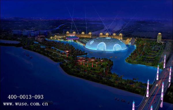 银川天山·海世界 六一儿童节 夜景照明 五色照明