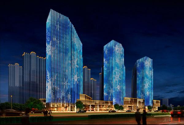 亮化工程点燃城市地标建筑的美