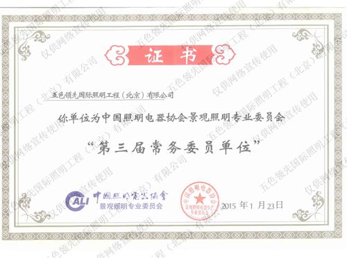 五色照明中国照明电器协会常务委员单位