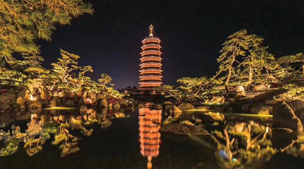古塔夜景亮化工程应考虑的三要素