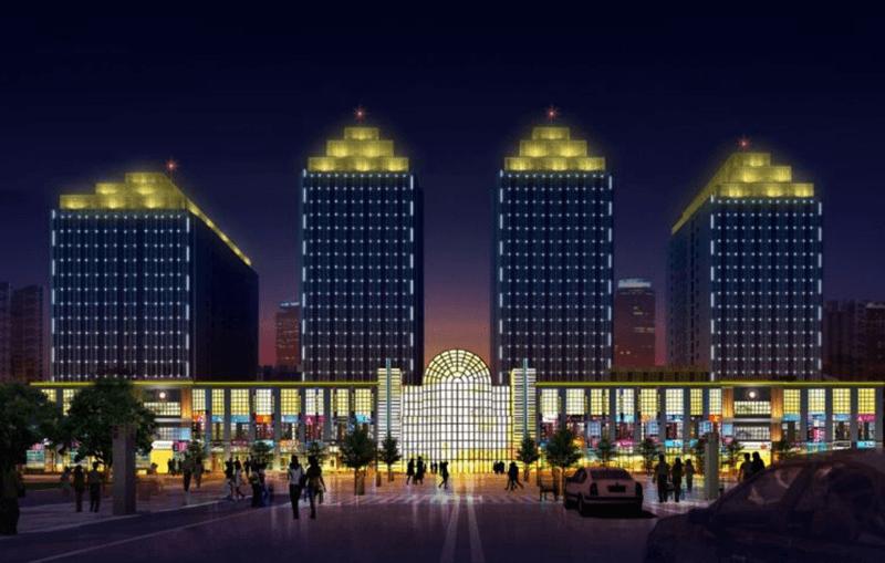 廊坊紫金城楼体亮化工程