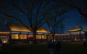 南宫温泉古建亮化