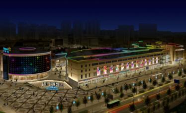 赤峰上海城楼体亮化