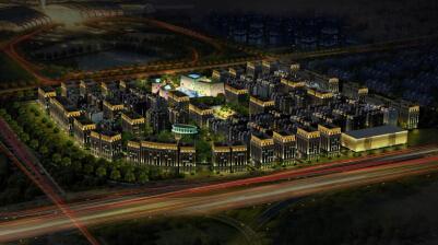 青岛总部基地国际港楼体亮化工程