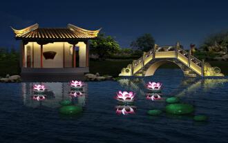 钵池山景观照明规划设计