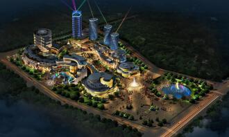 五彩文化创意产业园景观照明规划