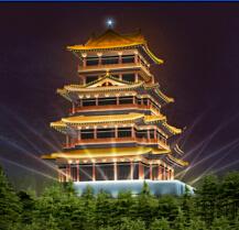 奚仲阁古建筑景观照明工程