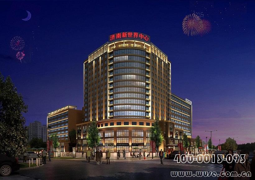 济南新世界中心楼体亮化工程