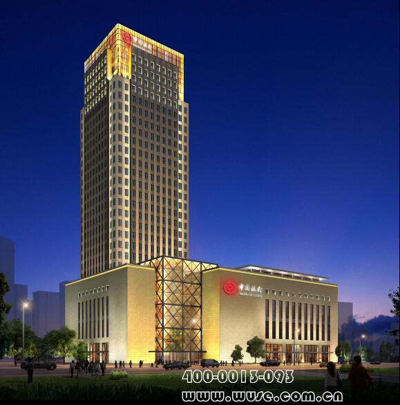 楼体亮化设计方案-太伟方恒广场夜景照明设计