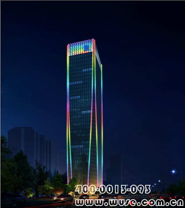 中铁三局科技研发中心楼体亮化工程