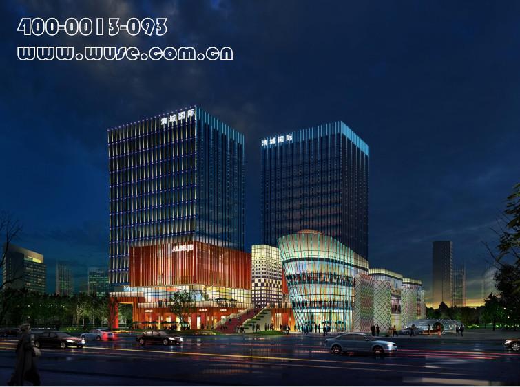 楼体亮化—清城时代广场夜景照明工程