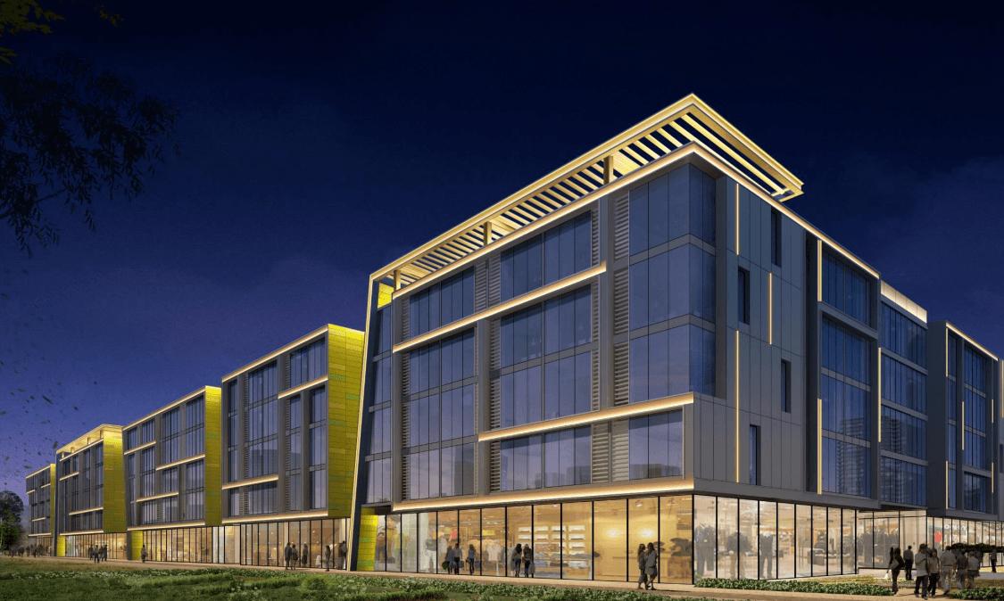 商业楼体综合照明——庞各庄众美城项目