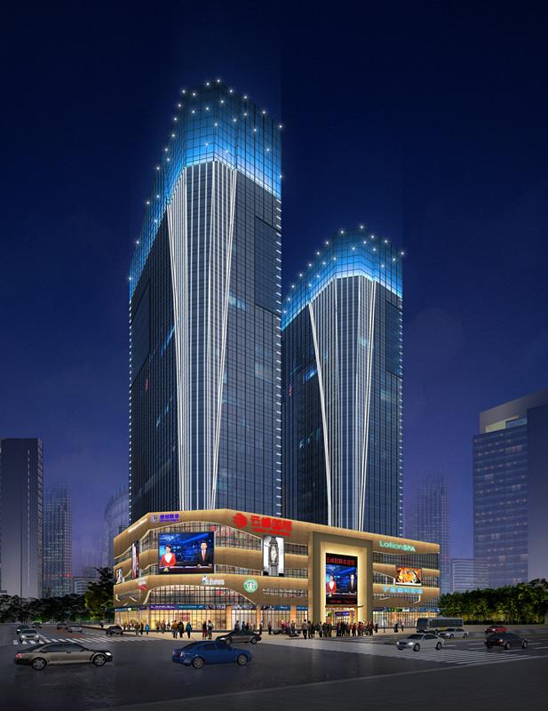 商业综合体照明工程——用灯光展现微缩版的城市形态