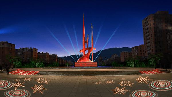 城市广场照明规划——通化团结广场亮化工程