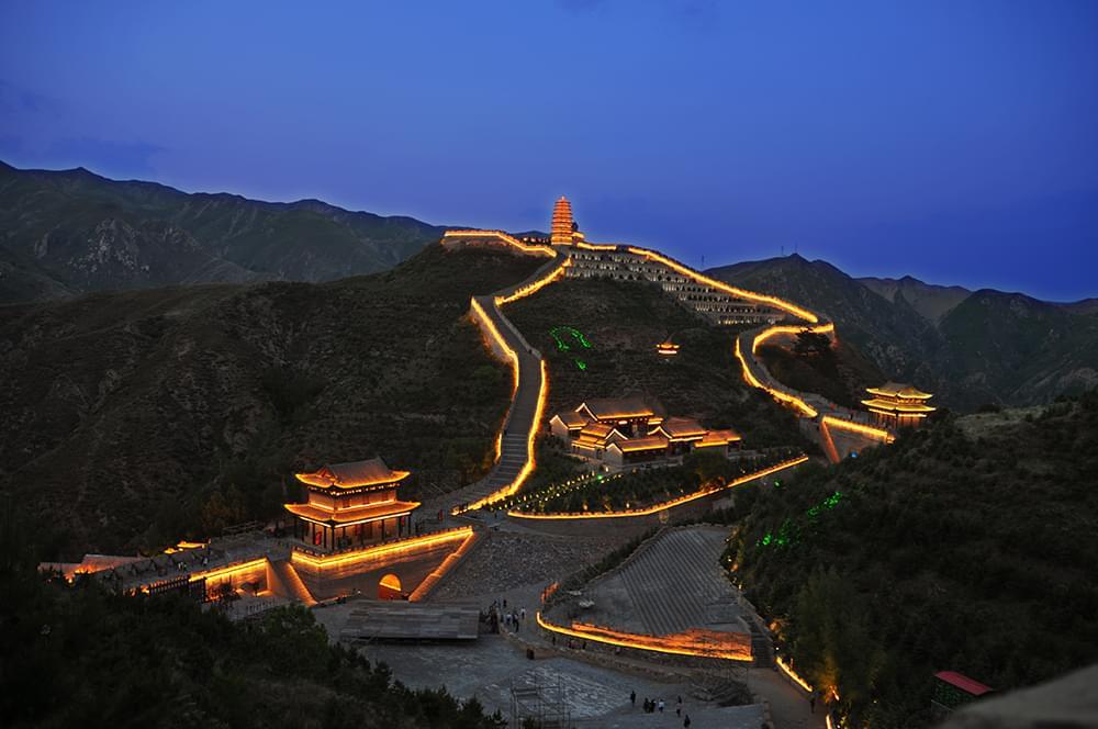 景观照明工程——用灯光再现雁门古战场的狼烟烽火